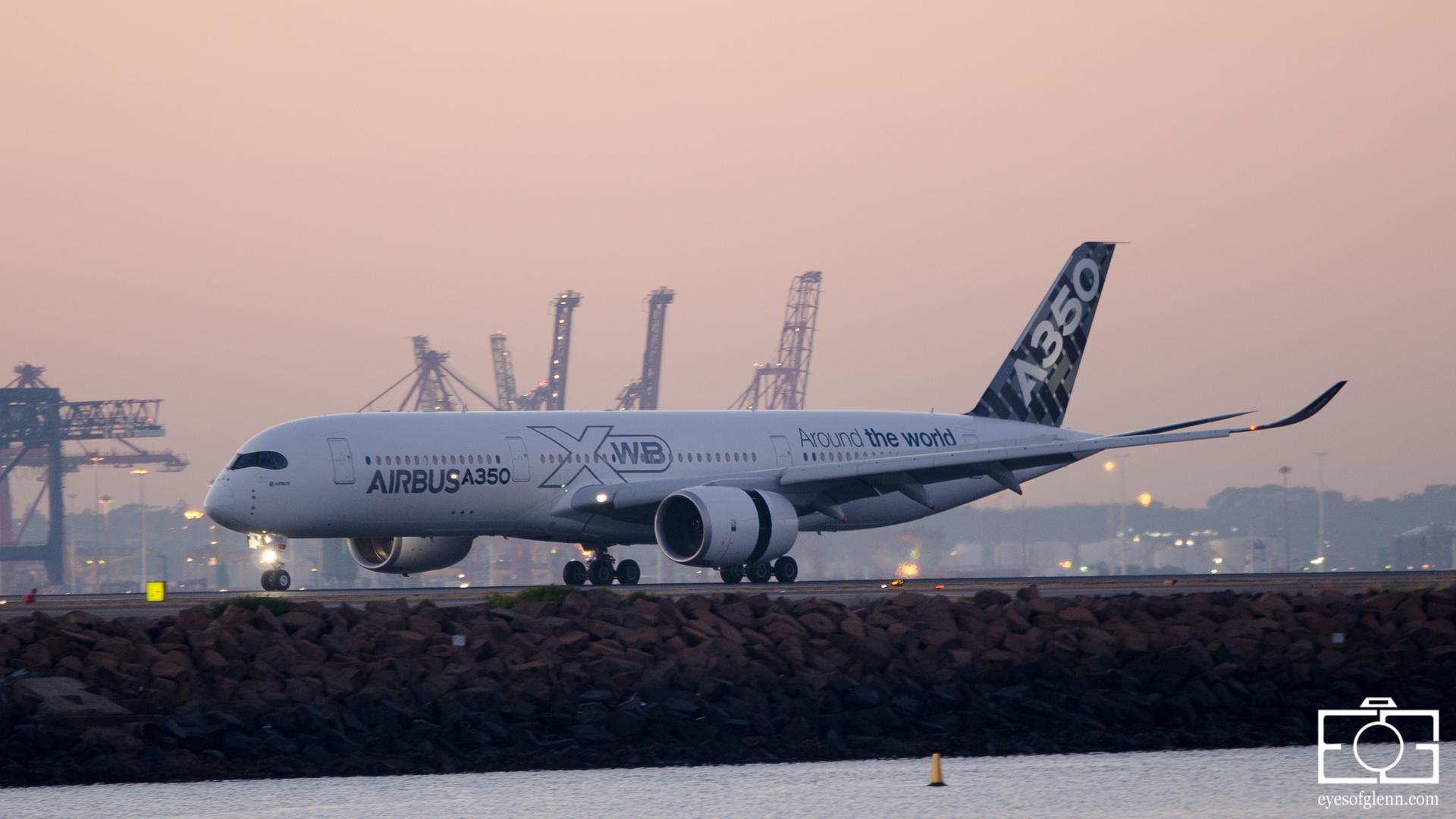 YSSY A350 Inaugural
